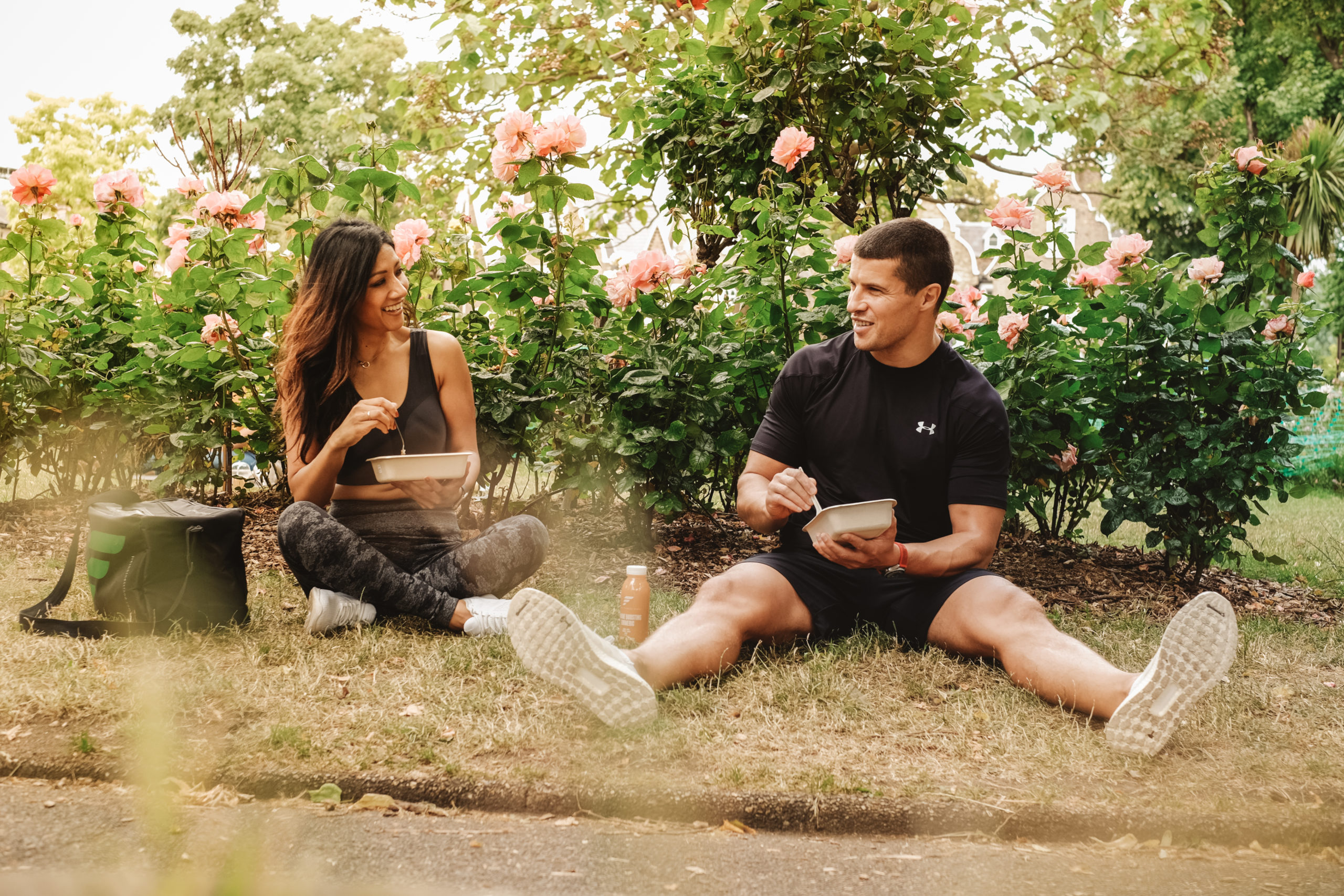 people eating outdoors easy meal plan